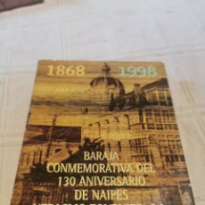 Barajas de cartas: BARAJA CONMEMORATIVA DEL 130 ANIVERSARIO DE NAIPES HERACLIO. Lote 252040420