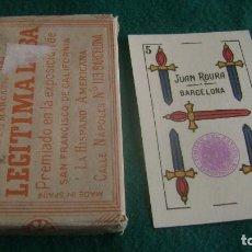 Barajas de cartas: BARAJA LEGITIMA LOBA 1939 POR ESTRENAR CON FUNDA VER DESCRIPCION BJ23. Lote 252201080