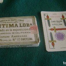 Barajas de cartas: BARAJA LEGITIMA LOBA 1939 POR ESTRENAR CON FUNDA VER DESCRIPCION BJ 26. Lote 252203410