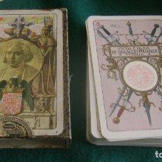 Barajas de cartas: BARAJA MUY BIEN NAIPE HISTORICO AMERICANO CON FUNDA 1931 VER DESCRIPCION BJ 32. Lote 252211130