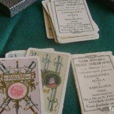Barajas de cartas: BARAJA MUY BIEN NAIPE HISTORICO AMERICANO CON CAJA 1931 VER DESCRIPCION BJ 43. Lote 252217440