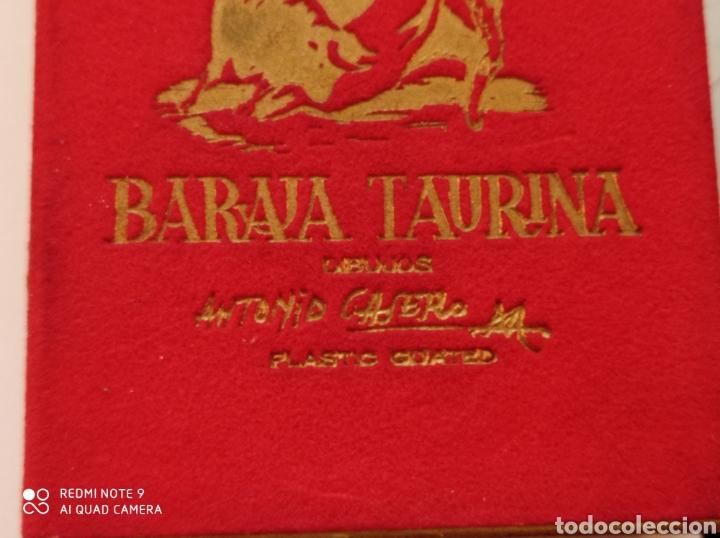 Barajas de cartas: BARAJA TAURINA. HERACLIO FOURNIER. DIBUJOS DE ANTONIO CASERO. BORDES EN ORO. NUEVA SIN USAR. ESPECTA - Foto 2 - 252381550