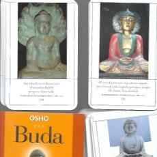 Barajas de cartas: BARAJA DE TAROT DE BUDA CON LIBRO Y 53 CARTAS DE MEDITACION PARA EL SILENCIO Y LA PAZ INTERIOR. Lote 253510975