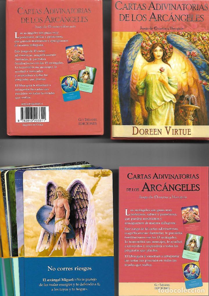 BARAJA DE LOS ARCANGELES CARTAS ADIVINATORIAS CON CAJA Y LIBRO PERFECTO ESTADO (Juguetes y Juegos - Cartas y Naipes - Barajas Tarot)