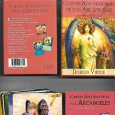 Barajas de cartas: BARAJA DE LOS ARCANGELES CARTAS ADIVINATORIAS CON CAJA Y LIBRO PERFECTO ESTADO. Lote 253519015