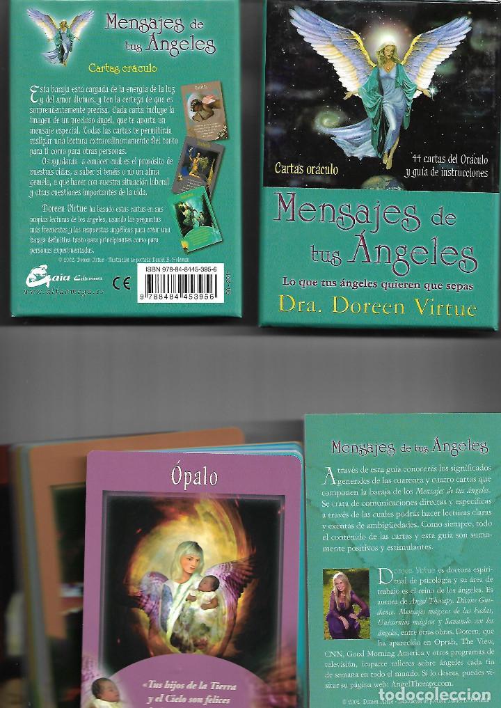 BARAJA DE LOS MENSAJE DE LOS ANGELES CARTAS ORACULO CON CAJA Y LIBRO PERFECTO ESTADO (Juguetes y Juegos - Cartas y Naipes - Barajas Tarot)