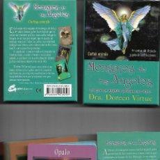 Barajas de cartas: BARAJA DE LOS MENSAJE DE LOS ANGELES CARTAS ORACULO CON CAJA Y LIBRO PERFECTO ESTADO. Lote 253519825
