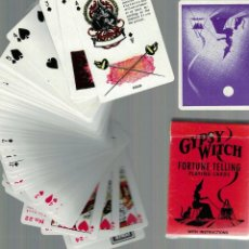 Barajas de cartas: CARTE DA GIOCO VINTAGE - GYPSY WITCH FORTUNE TELLING PLAYING CARDS - USA. Lote 253796380