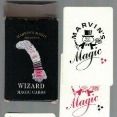 Barajas de cartas: CARTE DA GIOCO VINTAGE - MARVIN'S MAGIC - WIZARD MAGIC CARD. Lote 253796730