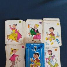 Barajas de cartas: BARAJA CARTAS EL JUEGO DE LAS 7 FAMILIAS , EDICIONES RECREATIVAS 1963 , COMPLETA. Lote 253976805