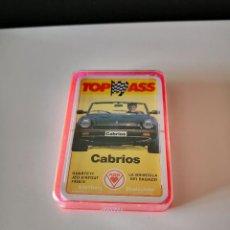 Barajas de cartas: BARAJA COCHES CABRIOS NUEVA PRECINTADA CARTAS TOP ASS ACE RARA TIPO HERACLIO FOURNIER. Lote 254033345
