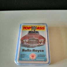 Barajas de cartas: BARAJA COCHES ROLLS ROYCE NUEVA PRECINTADA CARTAS TOP ASS ACE RARA TIPO HERACLIO FOURNIER. Lote 254033875