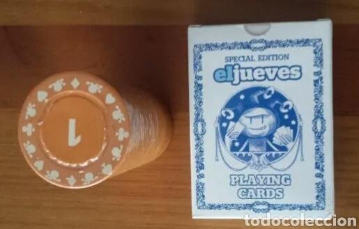 BARAJA POKER REVISTA EL JUEVES. 2015. CON FICHAS (Juguetes y Juegos - Cartas y Naipes - Barajas de Póker)