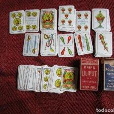 Mazzi di carte: LOTE DOS BARAJAS INFANTILES LILIPUT DE FOURNIER, COMPLETAS - 4.5X3.3CM CORREO 1.15€+ INFO. Lote 254417700