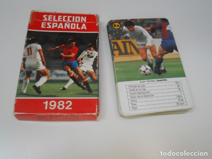 BARAJA CARTAS FOURNIER SELECCION ESPAÑOLA 1982 MUNDIAL REAL MADRID BARCELONA FUTBOL FOOTBALL JUANITO (Juguetes y Juegos - Cartas y Naipes - Barajas Infantiles)