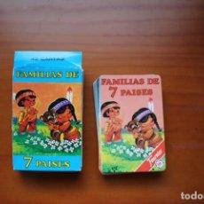 Mazzi di carte: BARAJA DE CARTAS INFANTIL DE FAMILIAS DE 7 PAÍSES. FOURNIER. COMPLETA Y NUEVA.. Lote 255636170