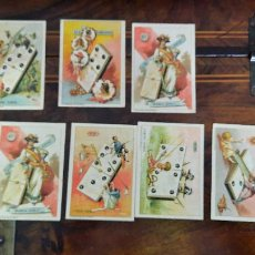Barajas de cartas: SIETE CARTAS DE CHOCOLATES EL BARCO DE EL DOMINO. Lote 256159540