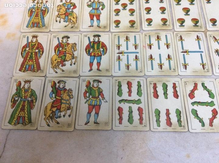 Barajas de cartas: Baraja española antigua y completa. Sin marca del fabricante. Exclusiva de colección - Foto 5 - 257393025