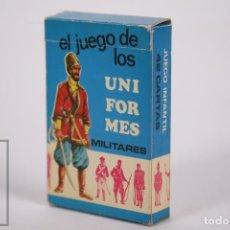 Jeux de cartes: BARAJA DE CARTAS / NAIPES - UNIFORMES MILITARES 42 CARTAS - GAEZ 1970 - COMPLETA CAJA ORIGINAL. Lote 258844195