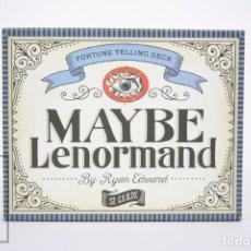 Baralhos de cartas: BARAJA DEL TAROT - MAYBE LENORMAND/ FORTUNE TELLING DECK - 52 CARTAS - RYAN EDWARD - GUÍA EN INGLES. Lote 259264720