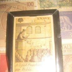 Barajas de cartas: BARAJA KNAVE 20 A TEFUIIT PREACHING AGAIN BIBLE PRECINTADO. Lote 260377760