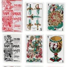 Barajas de cartas: BARAJA NAIPE ESPAÑOL EDICIONES MYR, DIBUJOS DE MINGOTE. SIN TIMBRE. 50 CARTAS. SIN ESTRENAR.. Lote 261674275
