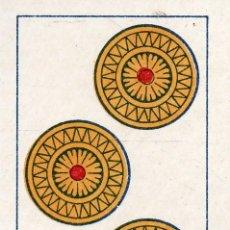 Barajas de cartas: VESIV BARAJAS CARTA SUELTA COMAS TRES DE ORO. Lote 262019325