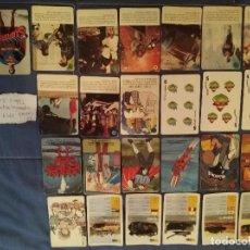 Barajas de cartas: 25 CARTAS FOURNIER MAZINGER Z MAZINGUER SUPERMAN TANQUES TORTUGAS NINJA... PANRICO PHOSKITOS BIMBO. Lote 262122730