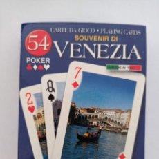 Barajas de cartas: BARAJA DE CARTAS. VENECIA. VENEZIA. PRECINTADA. POKER. 54 CARTAS. Lote 262757550