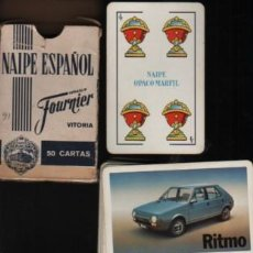 Jeux de cartes: JUEGO DE CARTAS NAIPES FIBRA MARFIL - FOURNIER VITORIA - PUBLICIDAD SEAT - COCHE RITMO. Lote 263126510