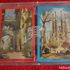 Barajas de cartas: ESTUCHE CON DOS BARAJAS HERACLIO FOURNIER CARTAS POKER ESPECIAL BARCELONA. Lote 263545100