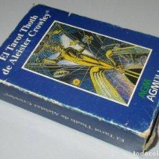 Baralhos de cartas: BARAJA EL TAROT THOTH DE ALEISTER CROWLEY, AGMÜLLER 1997. Lote 264269548
