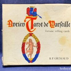 Barajas de cartas: ANCIEN TAROT DE MARSEILLE BP GRIMAUD 17X19CMS. Lote 264427984