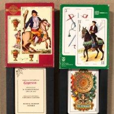 Barajas de cartas: LOTE DE 4 BARAJAS DE CARTAS FOURNIER; BARAJA GOYESCA (1815), BARAJA ESPAÑOLA GÓTICA (S. XVII),.... Lote 264435449