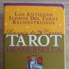 Barajas de cartas: TAROT DE MARSELLA LOS ANTIGUOS ICONOS DEL TAROT RECONSTRUIDOS 78 CARTAS. Lote 264707609