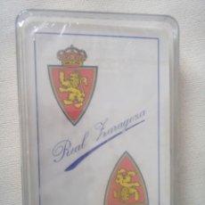 Barajas de cartas: REAL ZARAGOZA; BARAJA SIN ESTRENAR DE FOURNIER. Lote 265202514