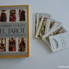 Barajas de cartas: RARA BARAJA CARTAS TAROT FOURNIER - LA MAQUINA DE IMAGINAR - ALBERTO COUSTE . BARRAL. - 1ª EDICIÓN.. Lote 267640374