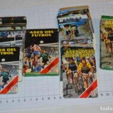 Barajas de cartas: 2 ANTIGUAS BARAJAS FOURNIER - ASES DEL FUTBOL / ASES DEL CICLISMO - BUEN ESTADO - ¡MIRA FOTOS!. Lote 267649759