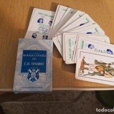 Jeux de cartes: JUEGO DE CARTAS, NAIPES, BARAJA CANARIA C. D. TENERIFE. MÁS OTRA REGALO INCOMPLETA. Lote 267706969