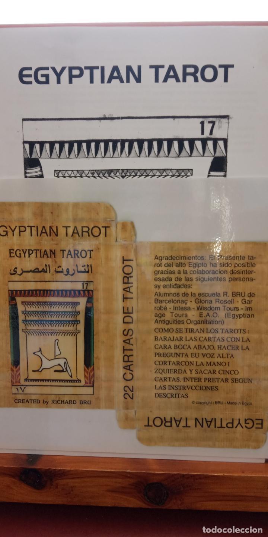 EGYPTIAN TAROT. COMPLETO. INCLUYE 22 CARTAS PLASTIFICADAS. VER FOTOS (Juguetes y Juegos - Cartas y Naipes - Barajas Tarot)