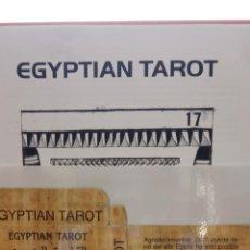 Barajas de cartas: EGYPTIAN TAROT. COMPLETO. INCLUYE 22 CARTAS PLASTIFICADAS. VER FOTOS. Lote 267773784