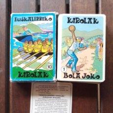 Barajas de cartas: BARAJA EUSKALERRIKO KIROLAK PAÍS VASCO DEPORTES EUSKADI. Lote 267871914