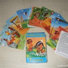 Barajas de cartas: BARAJA FAMILIAS DE 7 PAÍSES - EDICIÓN 2000. Lote 268454869