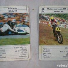 Barajas de cartas: LOTE CARTA 1C SIDE-CARS KONIG EB Y CARTA MOTOCROSS SUZUKI RN - HERACLIO FOURNIER.. Lote 268768589