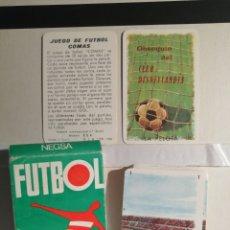 Barajas de cartas: JUEGO DE CARTAS DE FUTBOL OBSEQUIO DEL CLUB DISNEYLANDIA. Lote 268771954