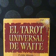 Barajas de cartas: CARTAS/ EL TAROT UNIVERSAL DE WAITE/ EDITH WITE/ EDITORIAL SIRIO/ ( REF.CAJA-COFRA). Lote 268967379