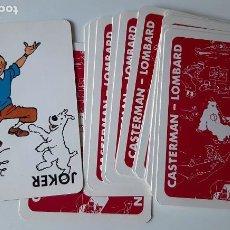 Barajas de cartas: TINTIN - BARAJA FRANCESA - LOMBARD / CASTERMAN - NUEVAS. Lote 269086158