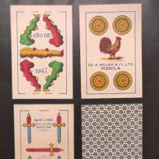 Barajas de cartas: NAIPES. BARAJA COMPLETA. COMAS. MANILA. 1947. Lote 269264193