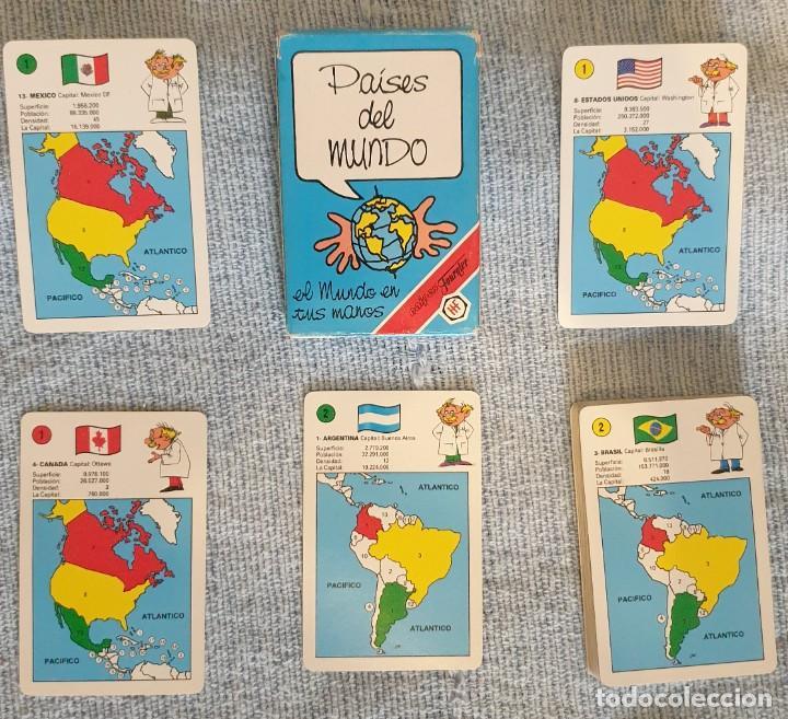 BARAJA CARTAS - PAÍSES DEL MUNDO - FOURNIER - COMPLETA - 1994 (Juguetes y Juegos - Cartas y Naipes - Barajas Infantiles)