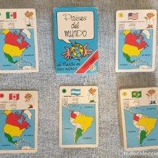 Barajas de cartas: BARAJA CARTAS - PAÍSES DEL MUNDO - FOURNIER - COMPLETA - 1994. Lote 269475178